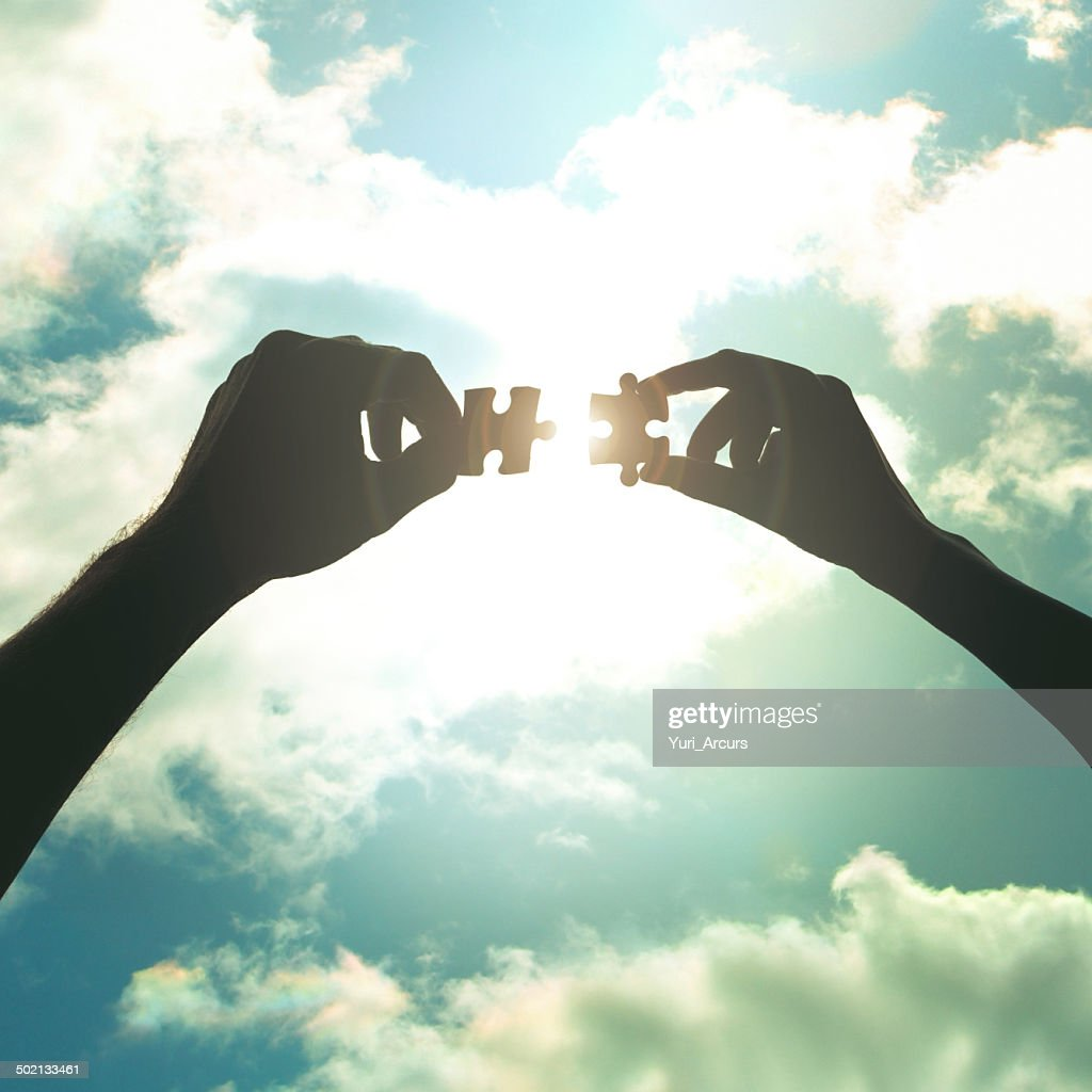 With teamwork, not even the sky is the limit : Stock Photo