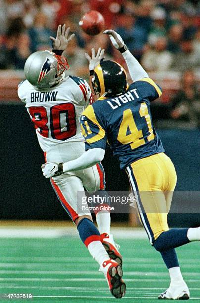 With Terry Glenn out for the season the Patriots chances of survival may hinge on the ability of Troy Brown to make more catches like the one he made...