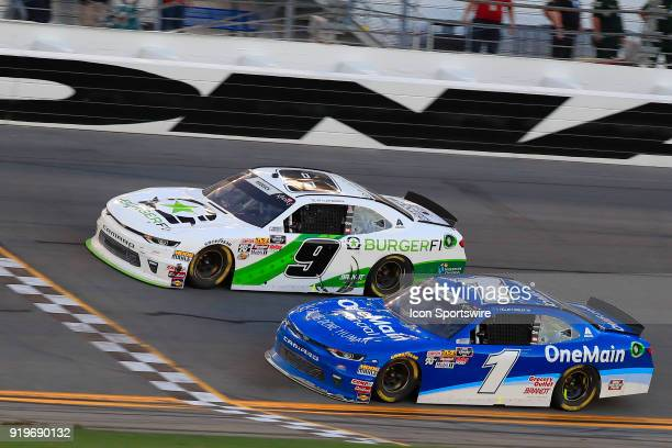 With the closest margin of victory in NASCAR history Tyler Reddick JR Motorsports BurgerFi Chevrolet Camaro finished less than three inches ahead of...