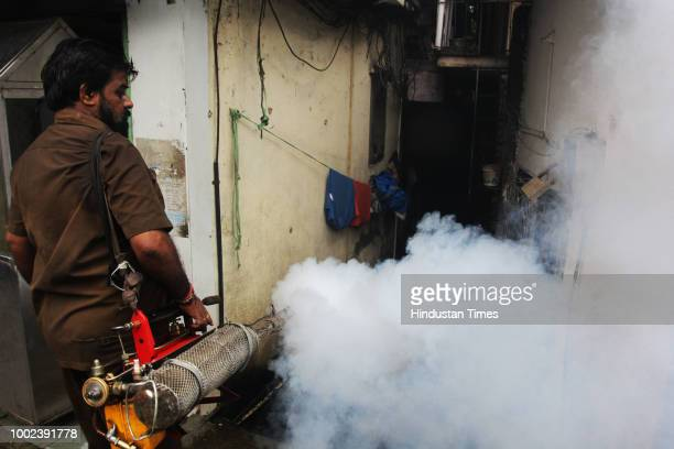 With the increasing risk of Dengue and malaria this monsoon the civic employees are seen fogging different parts of the city at Panchpakhadi area to...