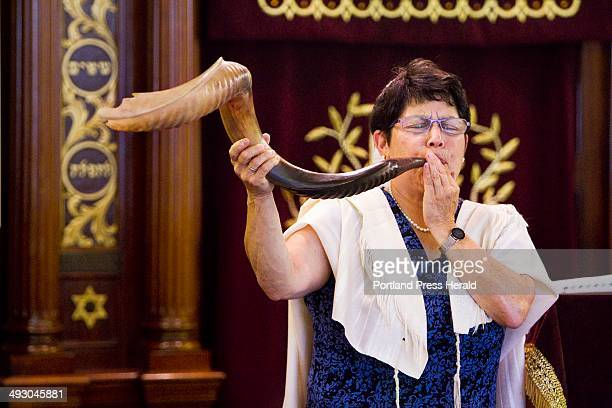 With the Jewish holiday of Rosh Hashanah beginning on Wednesday Rabbi Carolyn Braun plays a Shofar part of a 30minute ceremony at The Cedars...
