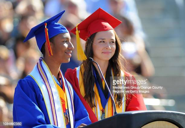 With the largest graduating class in Orange County at over 800 graduates Los Alamitos High School's class of 2013 holds their commencement at the...