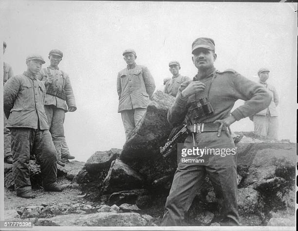 With the last armed IndianChinese confrontation at a close an Indian soldier appears relaxed as he moves close to Communist Chinese troops among the...