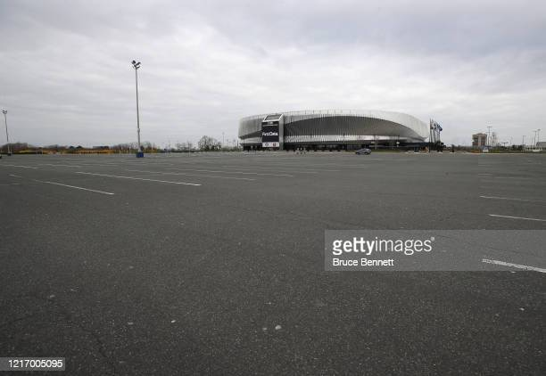 With the NHL season paused on March 12 due to the coronavirus pandemic the NYCB's Live at Nassau Coliseum has been closed to events as photographed...