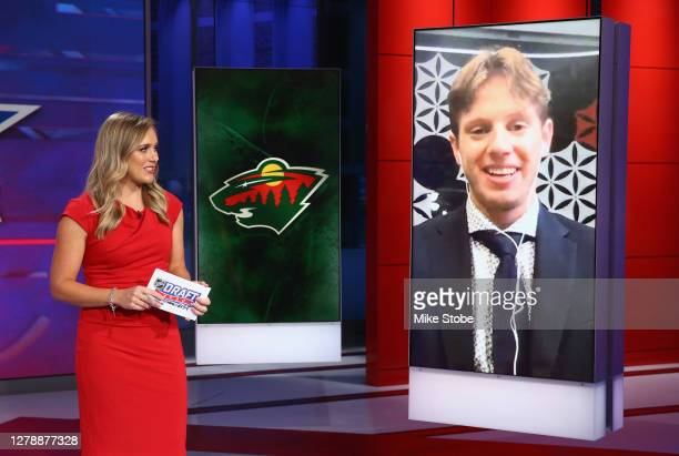 With the ninth pick of the 2020 NHL Draft, Marco Rossi from Ottawa of the OHL is selected by the Minnesota Wild at the NHL Network Studio on October...