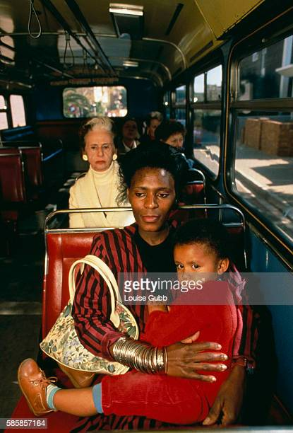 With the relaxing of Apartheid laws blacks can ride on white buses in South Africa