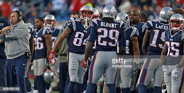 With the return of running back LeGarrette Blount to New England Jonas Gray far right found himself benched by head coach Bill Belichick far left The...