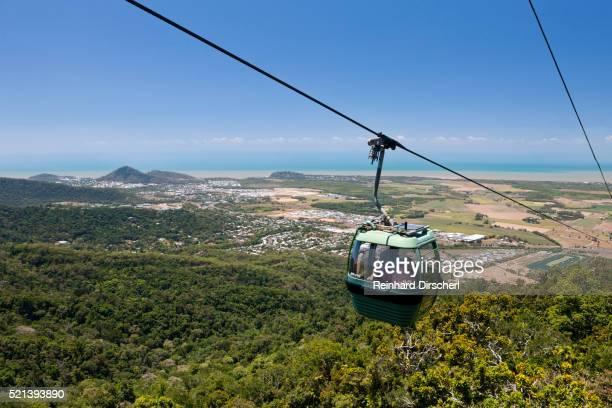 with the skyrail rainforest cableway to kuranda, australia - クランダ ストックフォトと画像