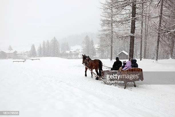 With the sleigh through winter wonderland