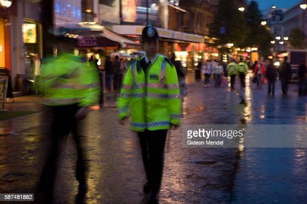 With the UK on a terror alert that has been raised to a ?critical? level, police patrol Leicester Square in London?s West End, close to the scene of...