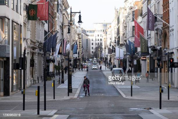 With very few people out and about the scene at Bond Street is one of empty desolation and all shops closed as the national coronavirus lockdown...