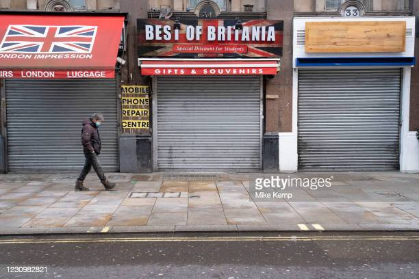 With very few people out and about the scene at Leicester Square is one of closed tourist souvenir shops with their shutters down as the national...