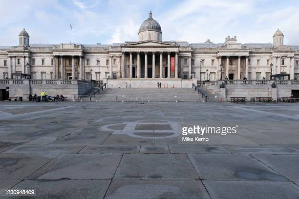 With very few people out and about the scene at Trafalgar Square and the National Gallery is one of empty desolation as the national coronavirus...