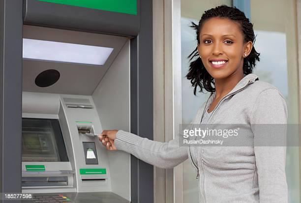 Withdraw cash money.