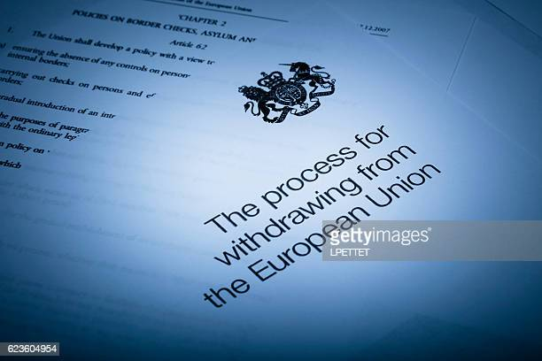 withdrawing from the european union - brexit stock pictures, royalty-free photos & images