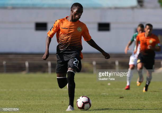 Witi Quembo of CD Nacional in action during the Liga NOS match between Vitoria FC and CD Nacional at Estadio do Bonfim on August 26 2018 in Setubal...