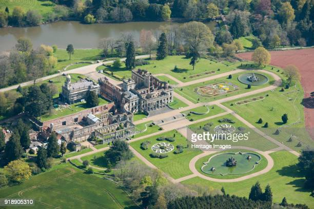 Witley Court and Gardens, Great Witley, Worcestershire, c2016. Aerial view. Witley Court was an early Jacobean manor house, which was converted in...