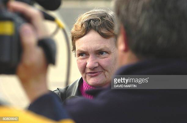 Witness Beatrice Hennixdal arrives 06 May 2004 at Arlon court for the trial of the Belgian paedophile Marc Dutroux Dutroux who was found guilty in...