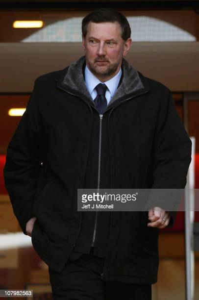 Witness Campbell Roy leaves Lanark Sheriff Court after giving evidence at the fatal accident inquiry into the helicopter crash that killed Colin...