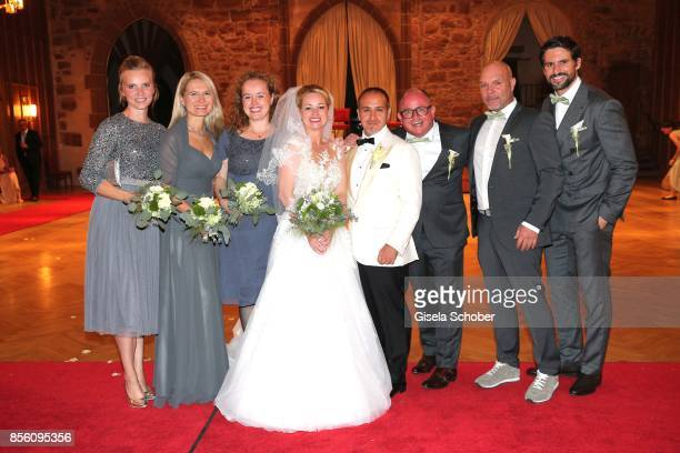 Witness Carola Scharrer Anita Weisl Andrea Strein Bridegroom Erdogan Atalay and his wife Katja Ohneck and best man Stephan Ohneck Stefan Richter and...