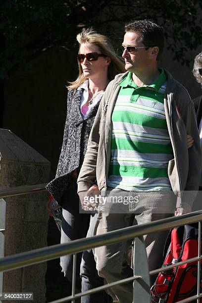 Witness Gregory King and his wife leave the Geelong Magistrates Court over man accused of murdering his three young sons on 16th August 2006 THE AGE...