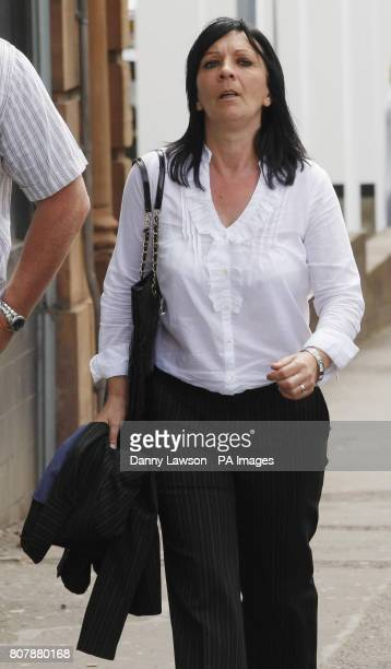 Witness Helen McGinty arrives at the inquiry into Clostridium difficile deaths at the Vale of Leven Hospitalin Alexandria West Dunbartonshire last...