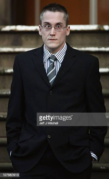 Witness James Telfer leaves Lanark Sheriff Court after giving evidence at the fatal accident inquiry into the helicopter crash that killed Colin...