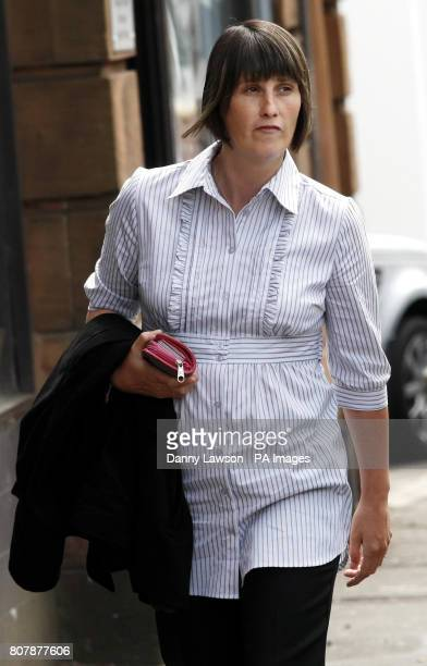 Witness Michelle Stewart arrives at the inquiry into Clostridium difficile deaths at the Vale of Leven Hospital in Alexandria West Dunbartonshire...