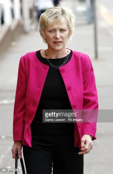 Witness Nancy Logan arrives at the inquiry into Clostridium difficile deaths at the Vale of Leven Hospital in Alexandria West Dunbartonshire last...