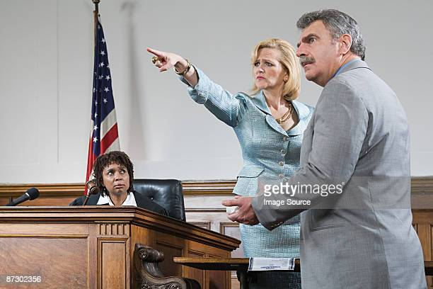 A witness pointing
