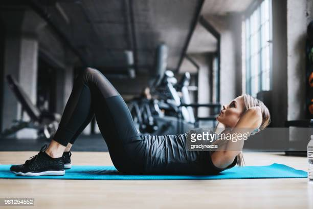 witness the fitness - sit ups stock photos and pictures