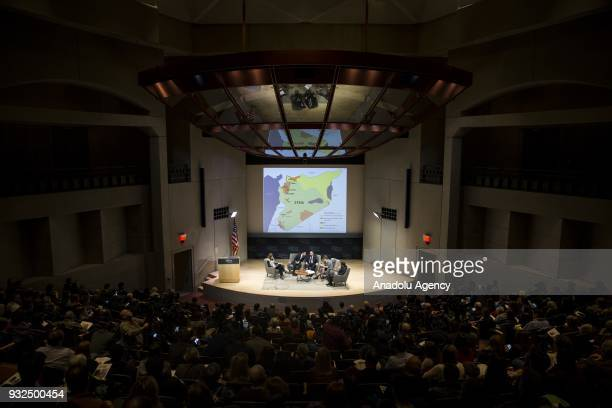 Witnesses of the Syrian Civil War speak during a discussion on Syria Is the Worst Yet to Come hosted by the US Holocaust Memorial Museum in...