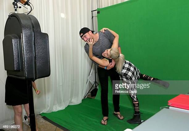 Emmy gift getty images witney carson and guest at gbk preemmys gift lounge day 2 at lermitage beverly negle Images