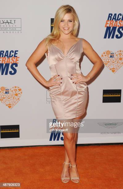 Witney Carson arrives at the 21st Annual Race To Erase MS Gala at the Hyatt Regency Century Plaza on May 2, 2014 in Century City, California.
