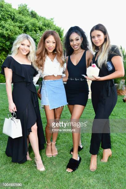 Witney Carson Jaleesa Moses and Alyssa Wallace attend Camila Cabello and L'Oreal Paris Celebrate the launch of the HAVANA makeup collection in...