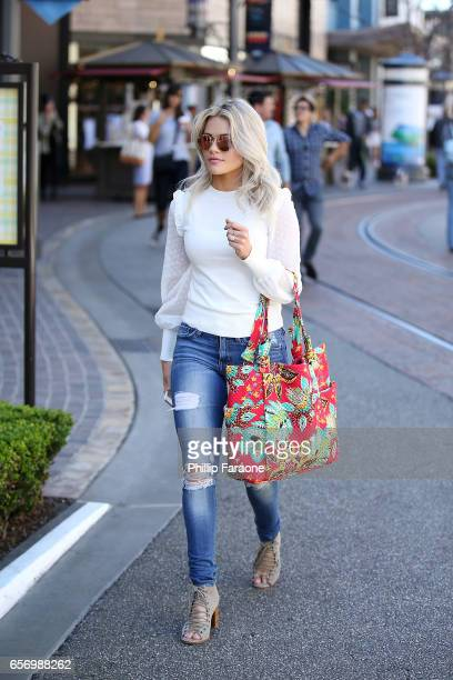 Witney Carson spotted leaving the dance studio carrying a Vera Bradley bag at The Grove on March 23 2017 in Los Angeles California
