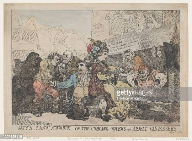 Wit's Last Stake or the Cobbling Voters and Abject Canvassers April 22 1784 Artist Thomas Rowlandson