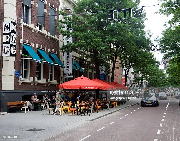 Witte de Withstraat is the main street for arts culture avantgarde shopping and nightlife in central Rotterdam Netherlands
