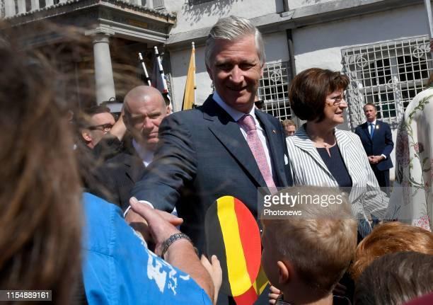 Wittenberg Germany Bezoek van Koning Filip Koningin Mathilde aan de Bondsrepubliek Duitsland deelstaat Thüringen SachsenAnhalt Bezoek aan het Rathaus...