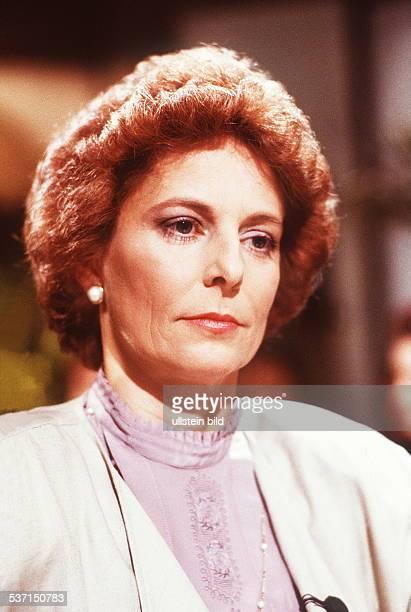 Witwe des CDU-Politikers Uwe-Barschel, - 1990