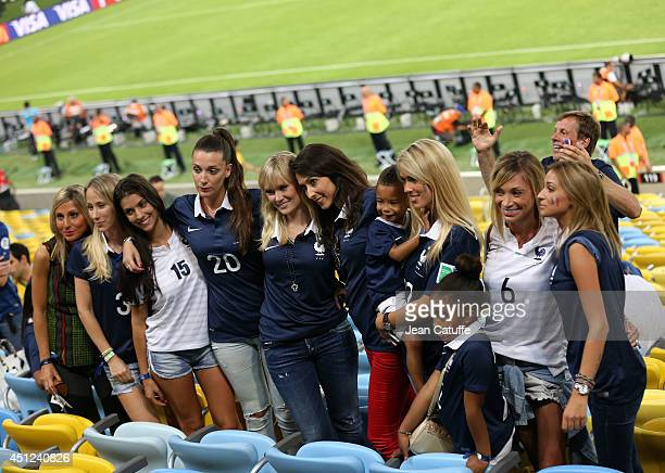 Wives and girlfriends of French players pose for a picture after the 2014 FIFA World Cup Brazil Group E match between Ecuador and France at Maracana...