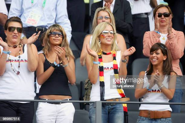 Wives and girlfriends of the German international football players Inga Thomas Hitzlsperger Jenny Linn Suzan and back carina Schneider and Michaela...