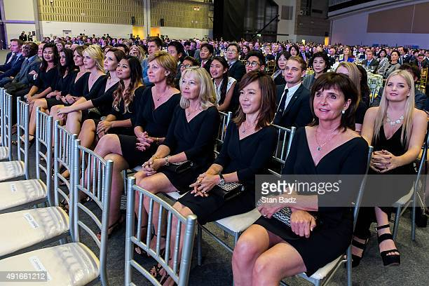 Wives and girlfriends of the International Team attend The Presidents Cup Opening Ceremony at Songdo Convensia on October 7 2015 in Songdo IBD...