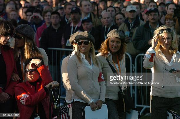 Donna Orender Joann Steranka Melissa Lehman Amy Mickelson and AMy DiMarco during Round 1 AM FourBall matches for the Ryder Cup held at The KClub in...
