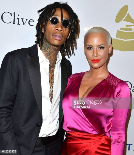 Wiz Khalifa Amber Rose arrives at the PreGRAMMY Gala and Salute to Industry Icons Honoring Debra Lee on February 11 2017 in Los Angeles California