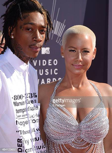 Wiz Khalifa and Amber Rose arrive to the 2014 MTV Video Music Awards at The Forum on August 24 2014 in Inglewood California