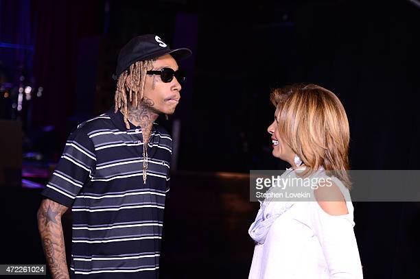 Wiz Khalifa and Hoda Kotb arrive as Live Nation Celebrates National Concert Day At Their 2015 Summer Spotlight Event Presented By Hilton at Irving...