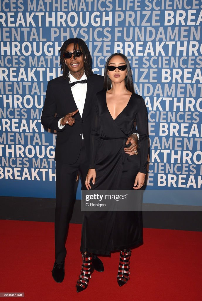 Wiz Khalifa and Izabela Guedes attend the 6th Annual Breakthrough Prize at NASA Ames Research Center on December 3, 2017 in Mountain View, California.