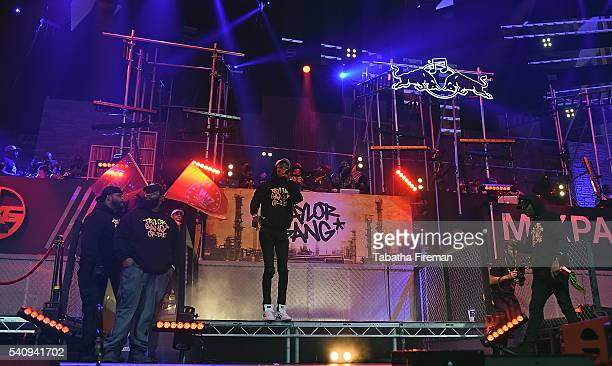 Wiz Khalifa and members of Taylor Gang perform at Red Bull Culture Clash at the O2 Arena on June 17 2016 in London England