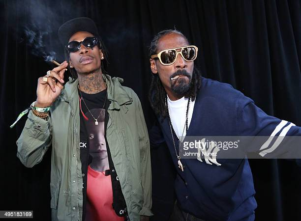 Wiz Khalifa and Snoop Dogg attend Hot 97 Summer Jam 2014 at MetLife Stadium on June 1 2014 in East Rutherford City